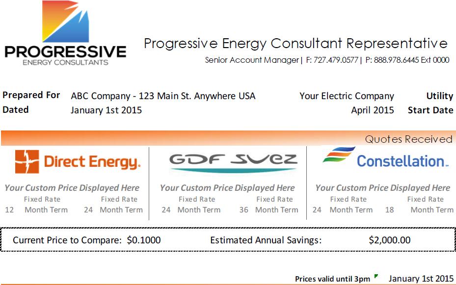 Progressive Energy Consultants Receive Quote