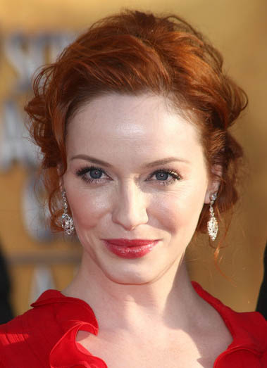 Hairstyle Ideas Upload Photo Free Christina Hendricks 39; Curly Prom Updo Hairstyle