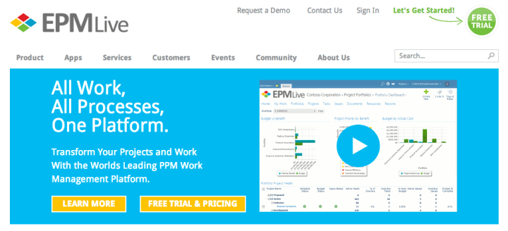 epm live software review overview features pricing