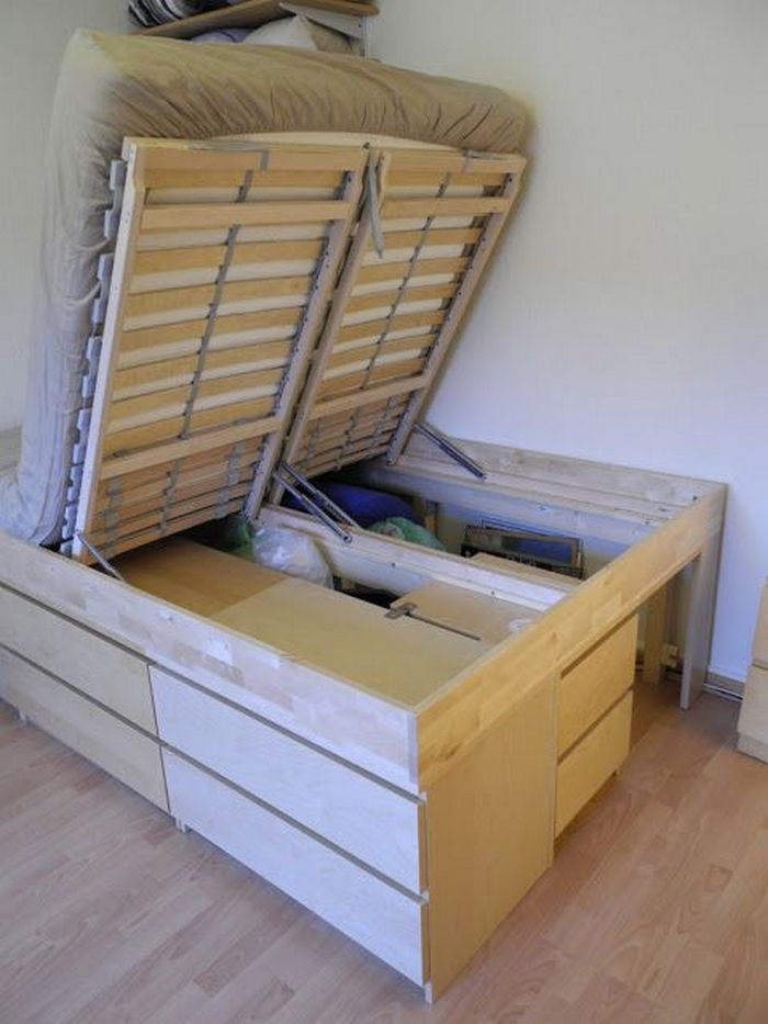 Schrankbett Selber Bauen Ikea Diy Lift Top Storage Bed | Your Projects@obn