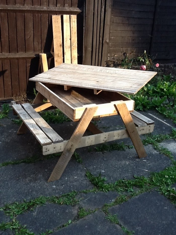 Build Your Kids A Picnic Table With Sandbox Your