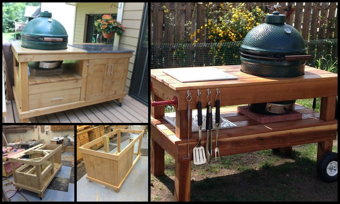 Build Your Own Barbecue Grill Table