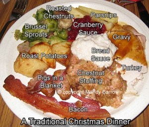 Traditional Christmas Dinner In England
