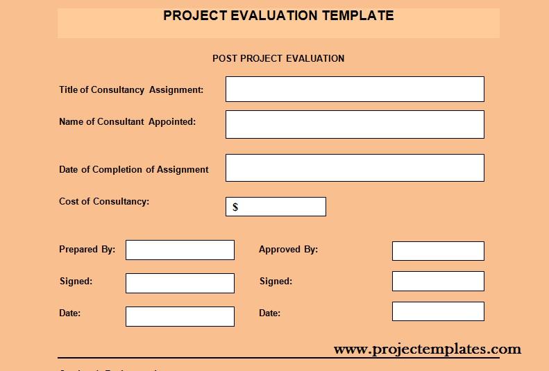 Get Project Evaluation Template Projectemplates