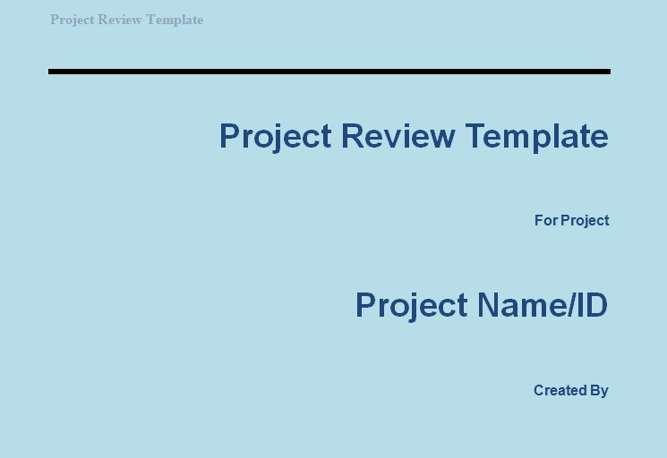 Get Project Review Template Projectemplates