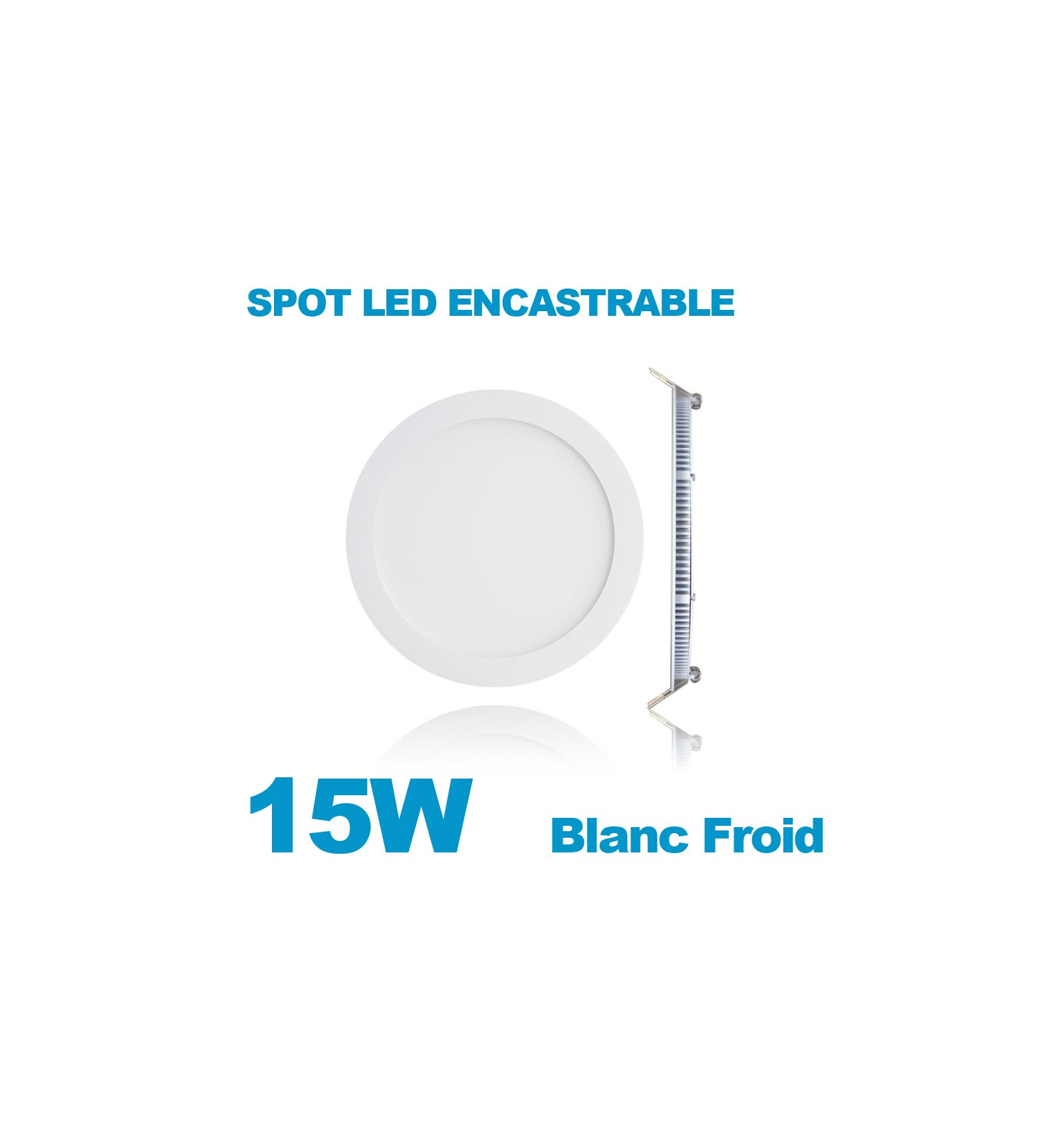 Ampoule Led E14 Blanc Froid Spot Encastrable Led Downlight Panel Extra Plat 15w Blanc