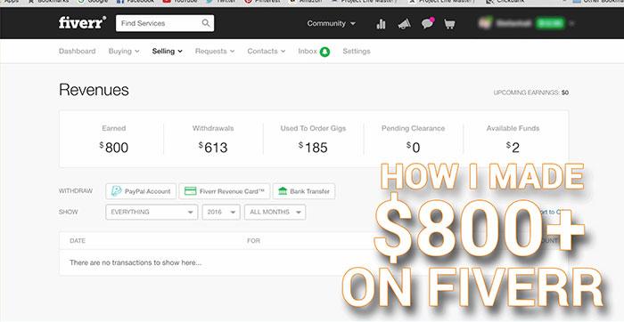 How I Made $800+ On Fiverr \u2013 Make Money On Fiverr