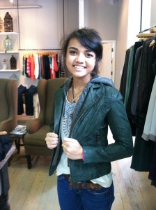 Forest Green Leather Jacket-$695