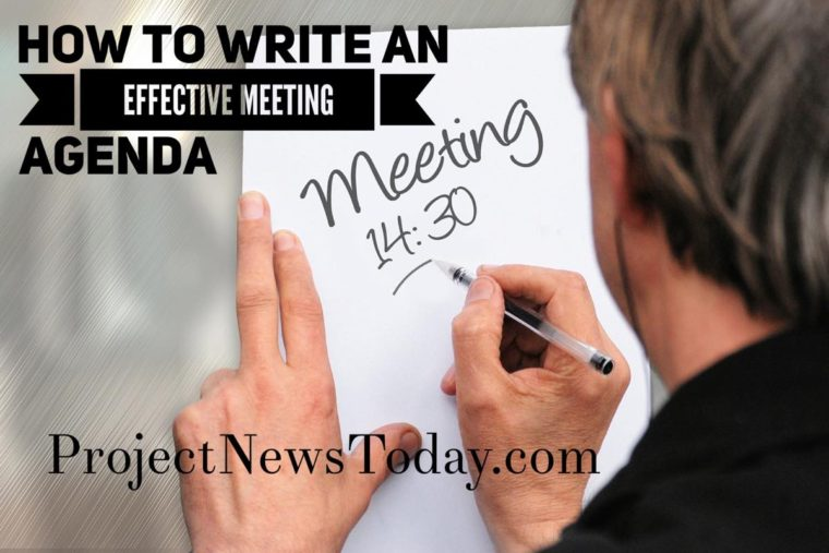 How to Write an Effective Meeting Agenda - Project News Today
