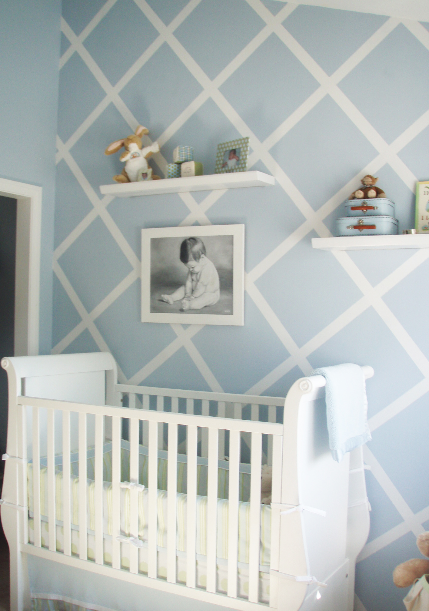 Baby Blue Bedroom Ideas Design Reveal Modern Baby Blue Project Nursery