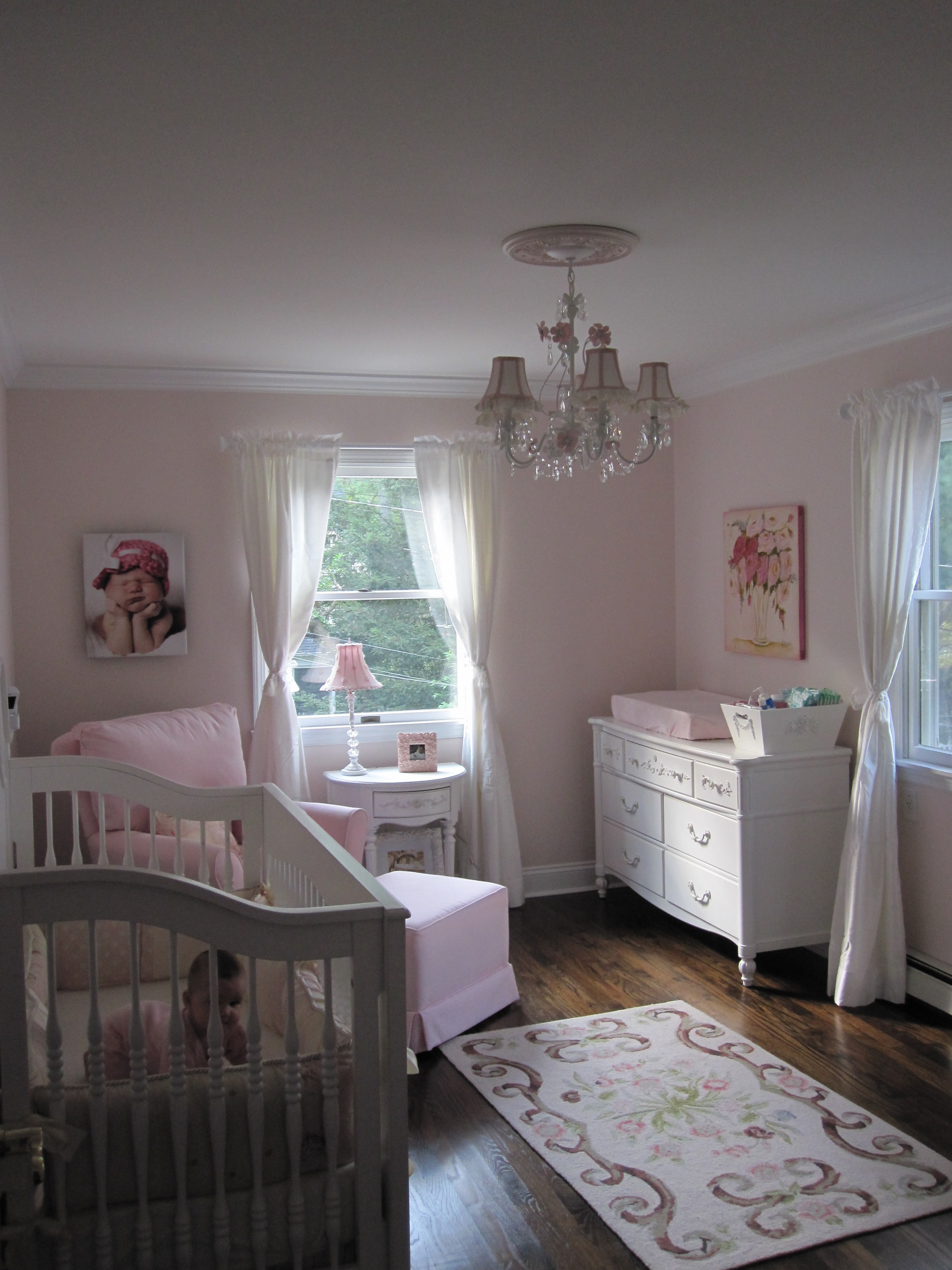Girls Wallpaper Ideas Ava S Pink And White Shabby Chic Nursery Project Nursery