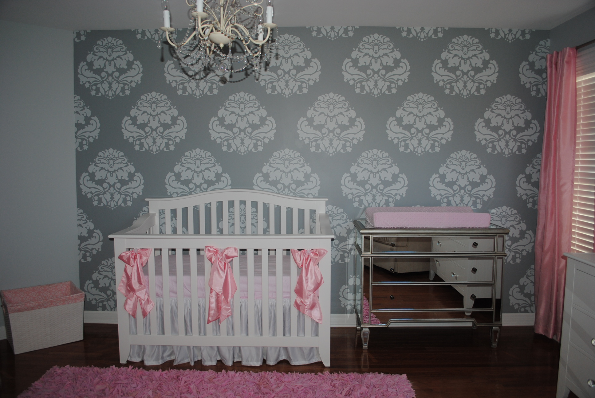 Wallpaper Ideas For Baby Girl Nursery Olivia S Shabby Chic Nursery Project Nursery