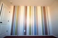 Puppy Dog Baby Nursery Room with Painted Stripes - Project ...