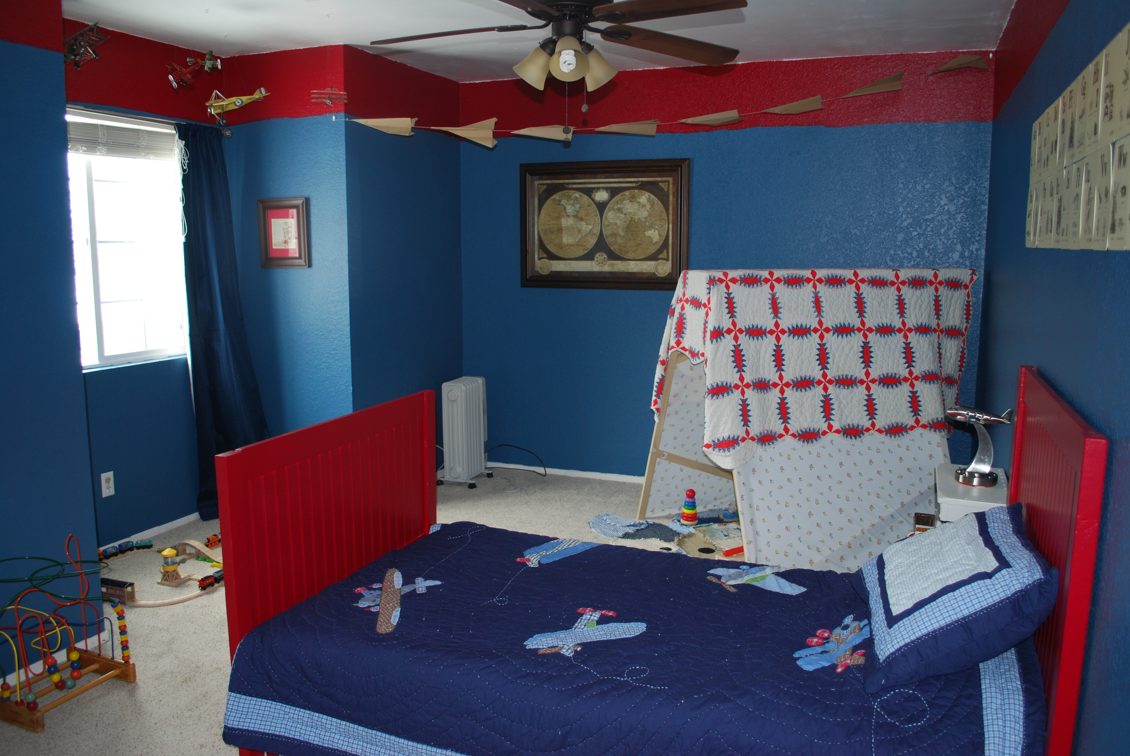 Airplane Bedrooms Airplane Toddler Room Project Nursery