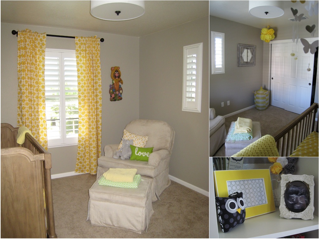Wallpaper Ideas For Baby Girl Nursery Yellow Amp Gray Nursery For Baby T Project Nursery
