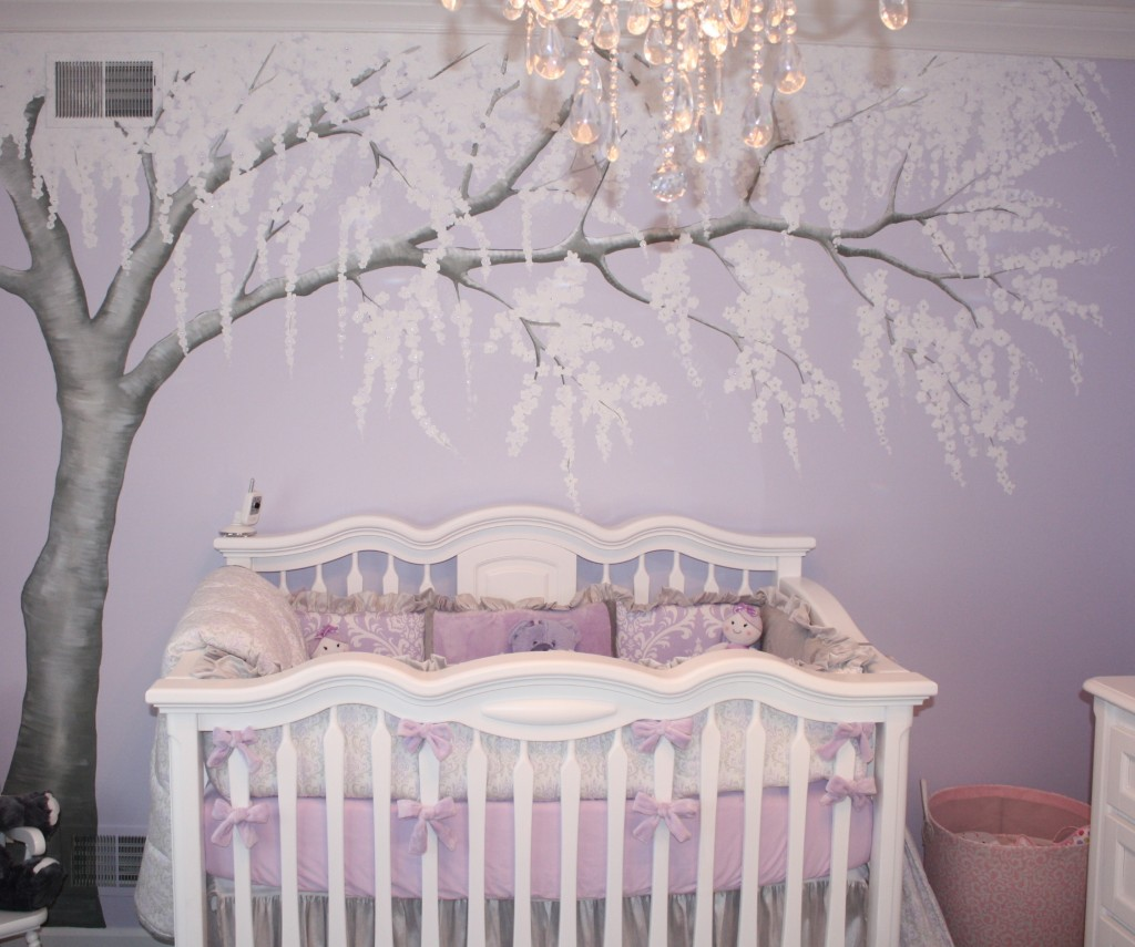 Baby Room Themes Girl Sparkly Cherry Blossom Nursery Project Nursery