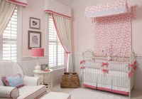 Pink, White and Blue Nursery