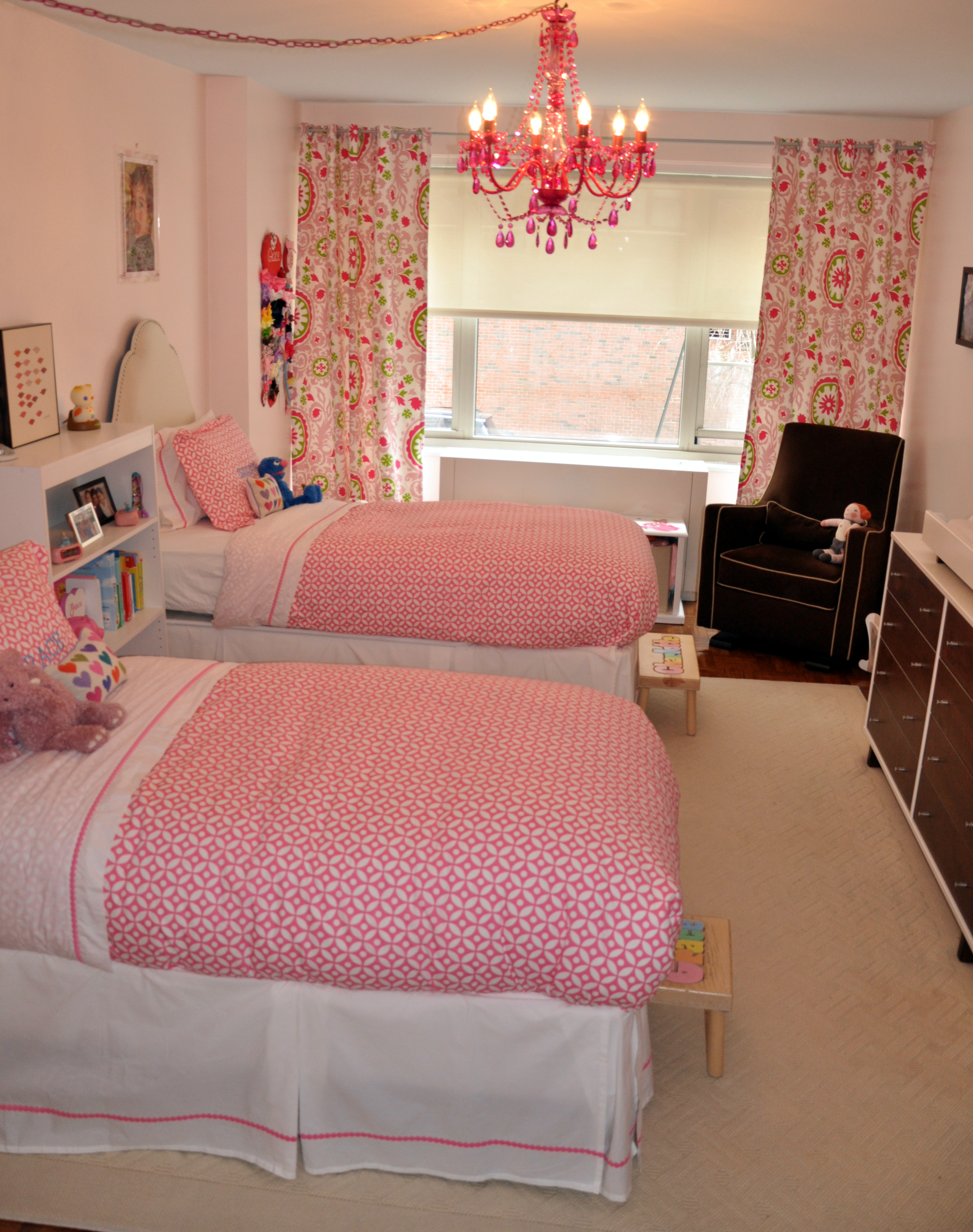 Cool Bedrooms For 2 Teenage Girls Little Girls 39 Shared Pink Bedroom Project Nursery