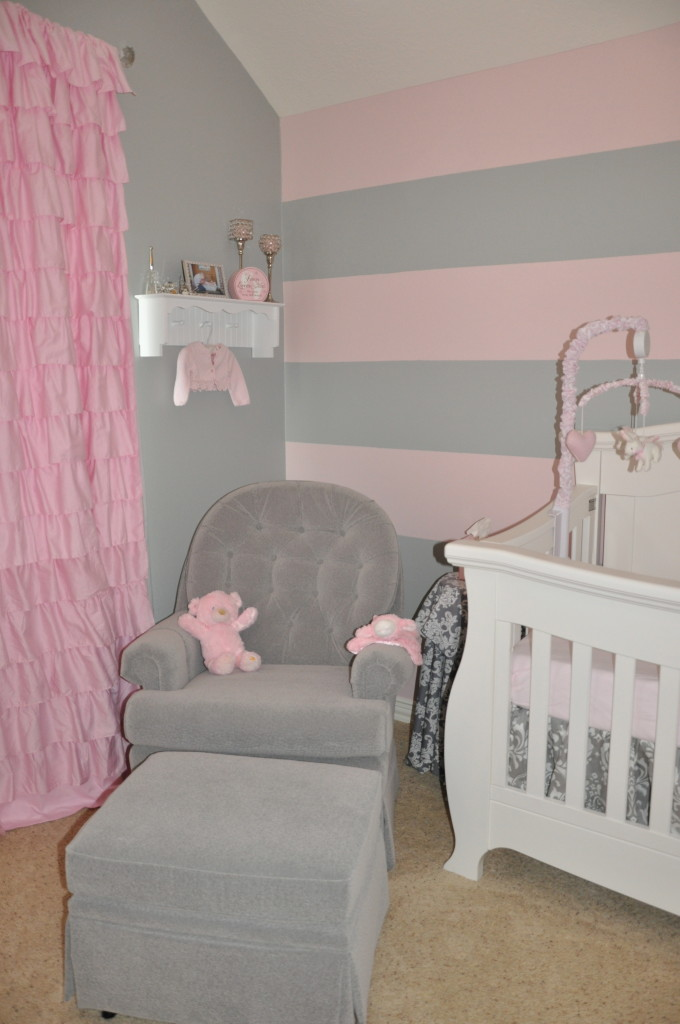 Pale Pink Wallpaper For Girl Nursery Peyton S Pink And Gray Nursery Project Nursery