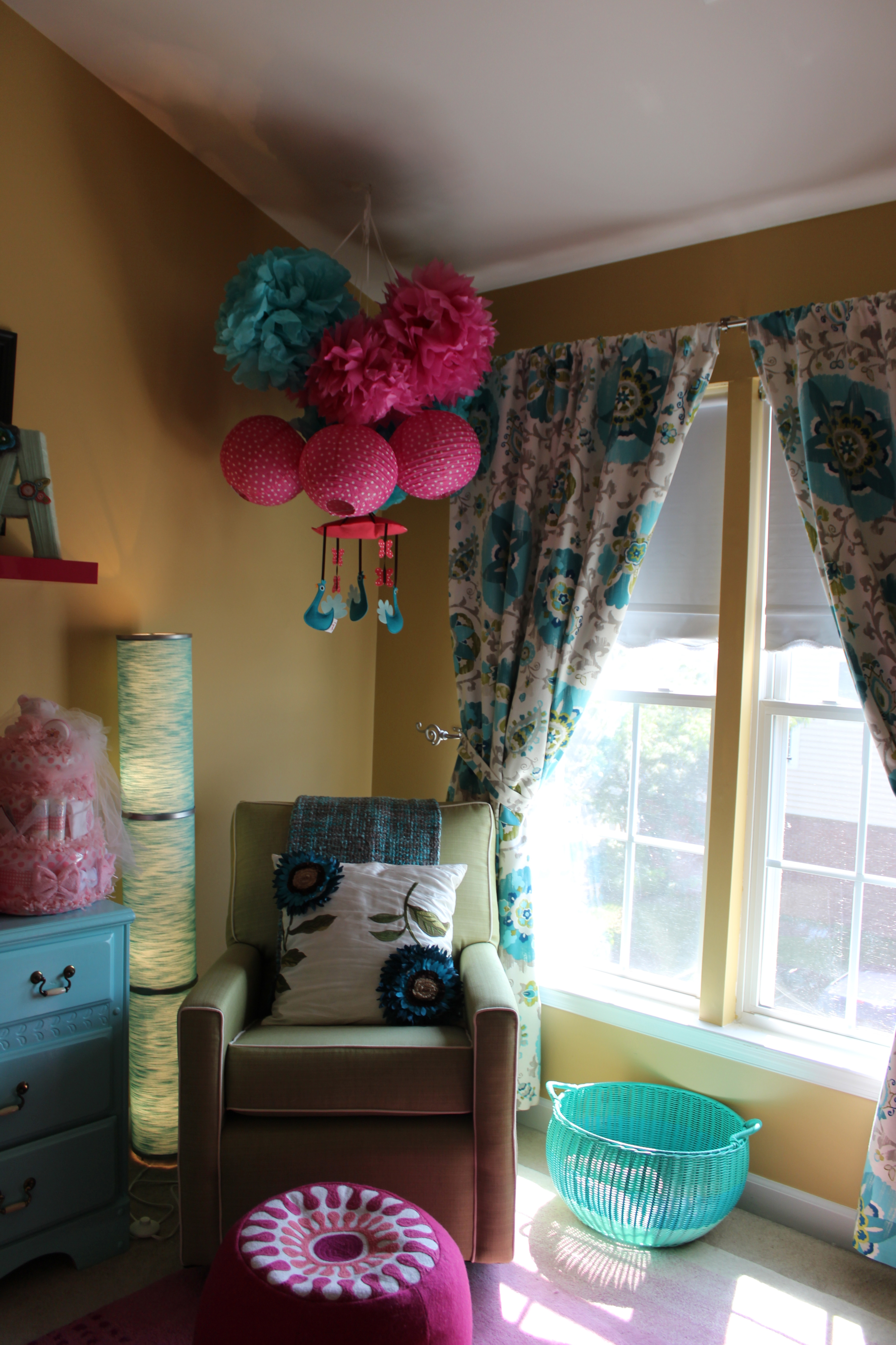 Toddler Nursery A Teal And Pink Nursery - Project Nursery