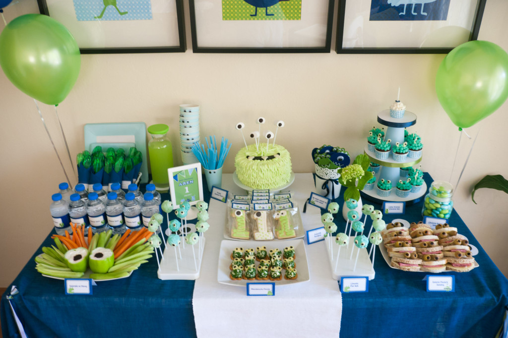 Rooms and Parties We Love this Week - Project Nursery - blue and green birthday party