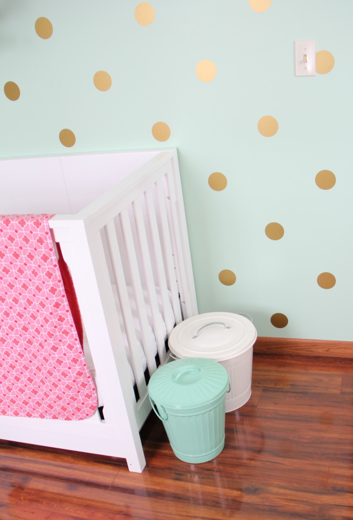Pale Pink Wallpaper For Girl Nursery Readers Favorite Mint Coral And Gold Nursery Project