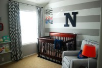 Nolan's Grey, White and Navy Baby Boy Nursery - Project ...