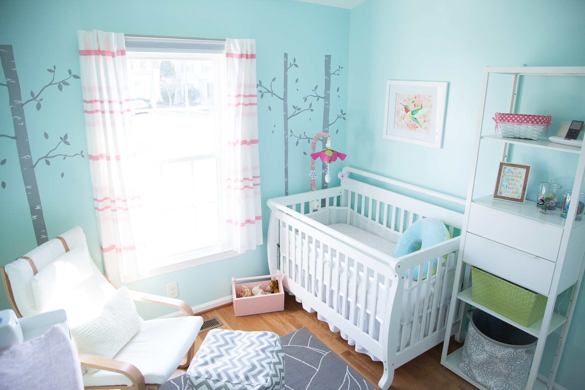 Baby Blue Bedroom Ideas Aqua And Pink Baby Girl Nursery Project Nursery
