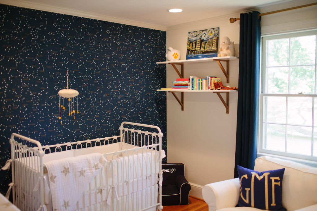 Teenage Girl Room White And Gold Polka Dot Wallpaper George S Constellation Nursery Project Nursery