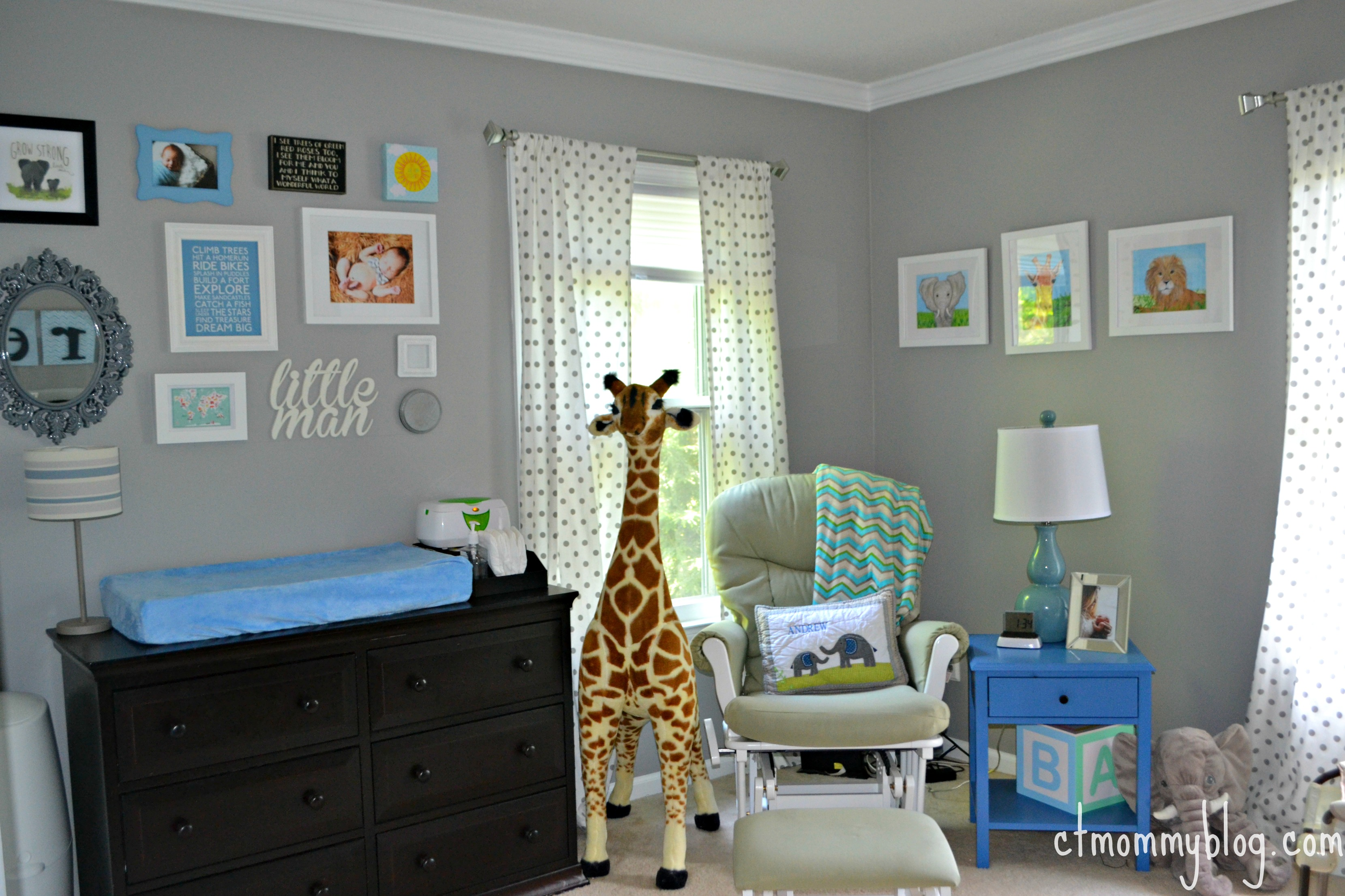 Ceiling Light For Baby Boy Room Andrew 39s Gray Safari Nursery Project Nursery