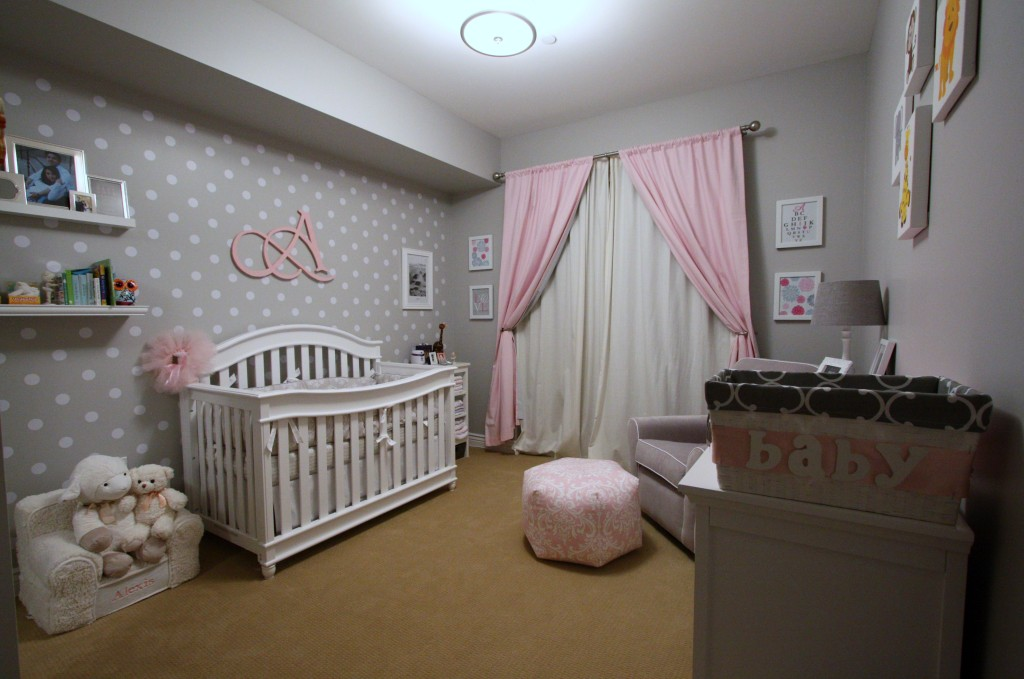 Ikea Glider Alexis' Pink And Grey Nursery - Project Nursery