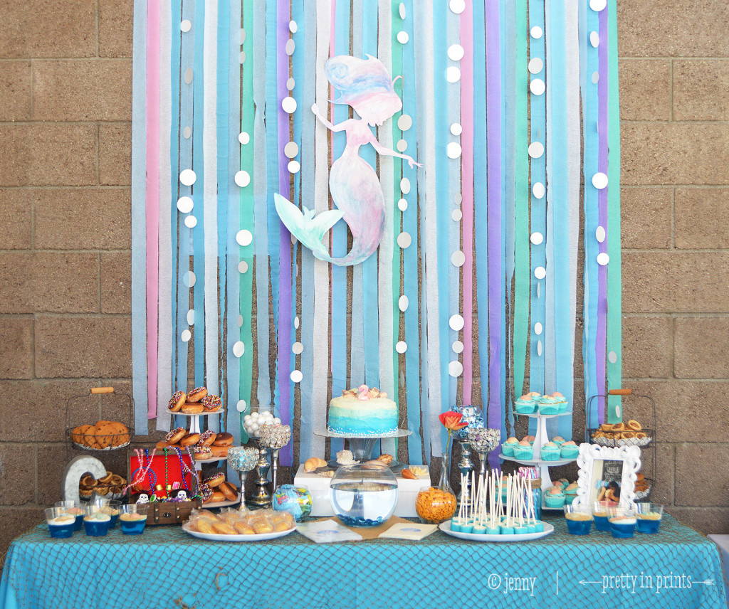 Diy Backdrop Stand For Dessert Table Charlie 39s Mermaid 2nd Birthday Party Project Nursery