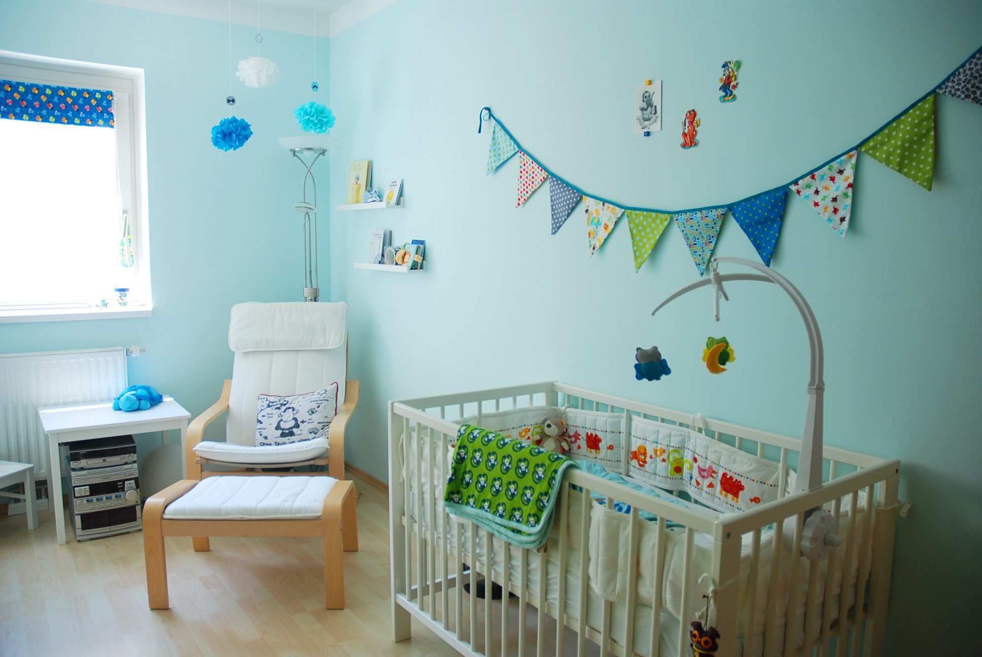 Baby Kinderzimmer Green And Blue Nursery With Dragon And Owl Details
