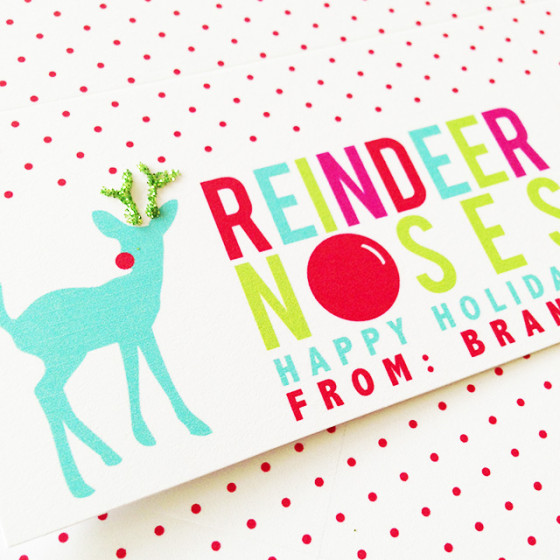Reindeer Noses Classroom Treat\u2014Free Printable - Project Nursery