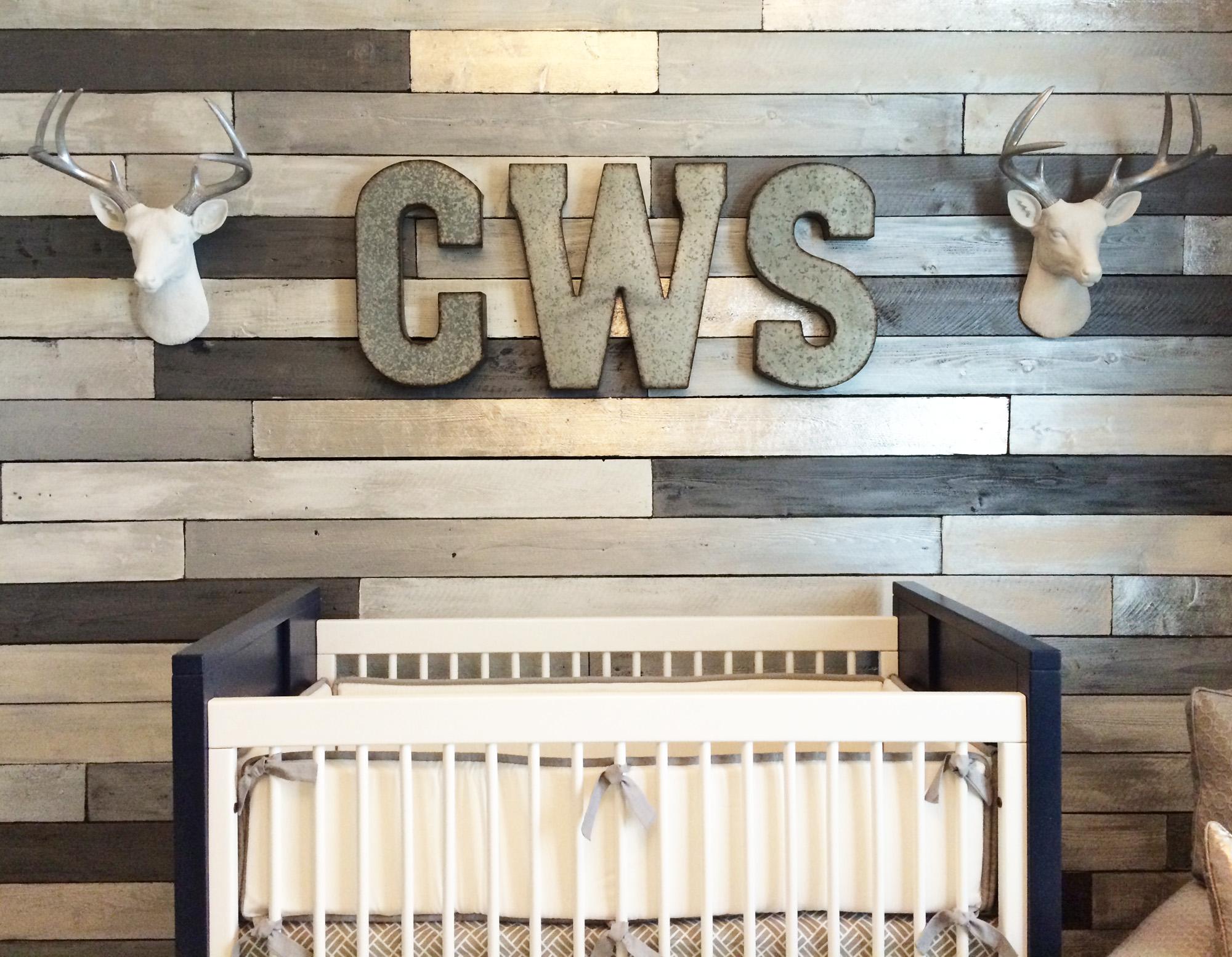 Fall Woodland Creatures Wallpaper Design Reveal Metallic Wood Wall Nursery Project Nursery