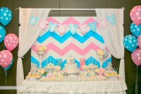 Chevron Themed Gender Reveal Baby Shower - Project Nursery