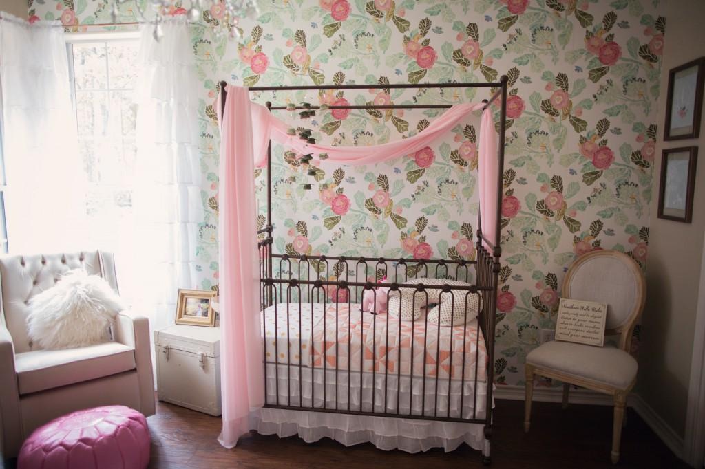 Little Baby Girl Wallpaper Ideas Floral Wallpaper In The Nursery Project Nursery