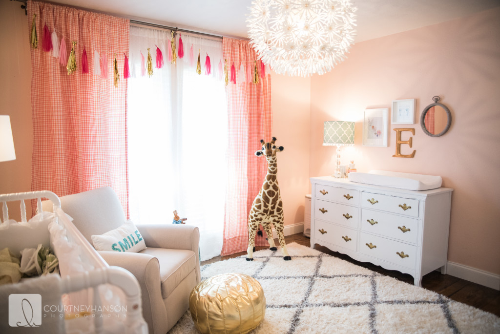 Teenage Girl Room White And Gold Polka Dot Wallpaper Vote May Room Finalists Project Nursery
