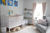 Grey, Pink and White Elephant Theme Nursery