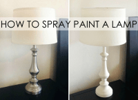 DIY Spray Painted Lamps - Project Nursery