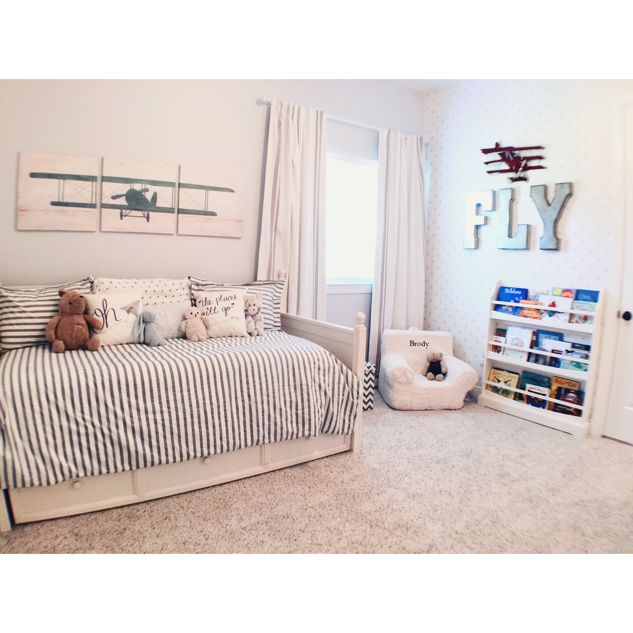Airplane Bedrooms Airplane Themed Toddler Room Project Nursery