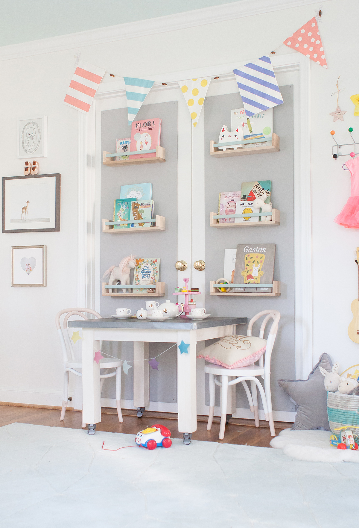 Whimsical Shelves In The Nursery With Lay Baby Lay Project Nursery