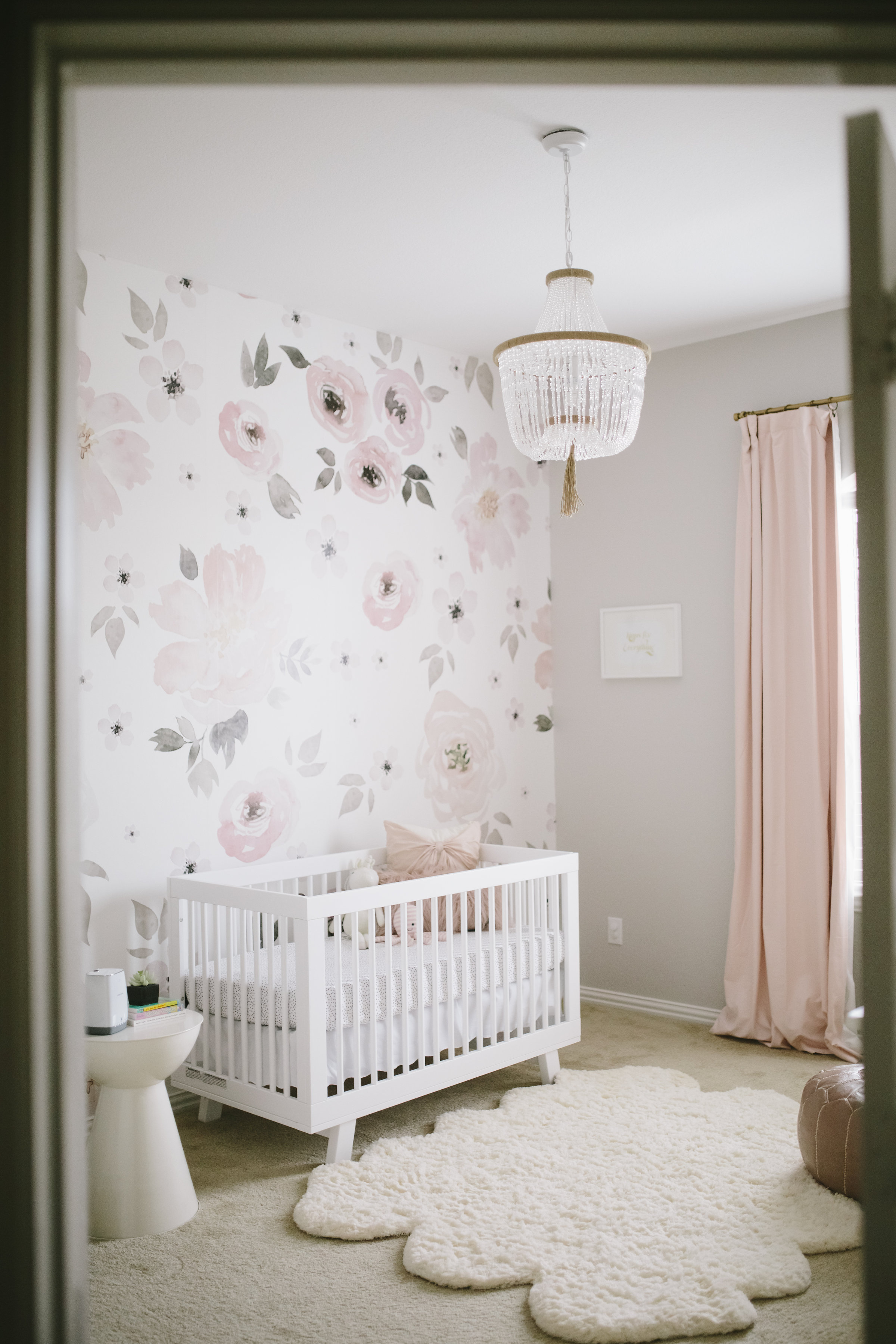 Toddler Girl Bedroom Wallpaper Harper S Floral Whimsy Nursery Project Nursery