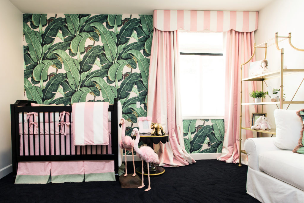 Wallpaper Ideas For Baby Girl Nursery Beverly Hills Hotel Inspired Nursery Project Nursery