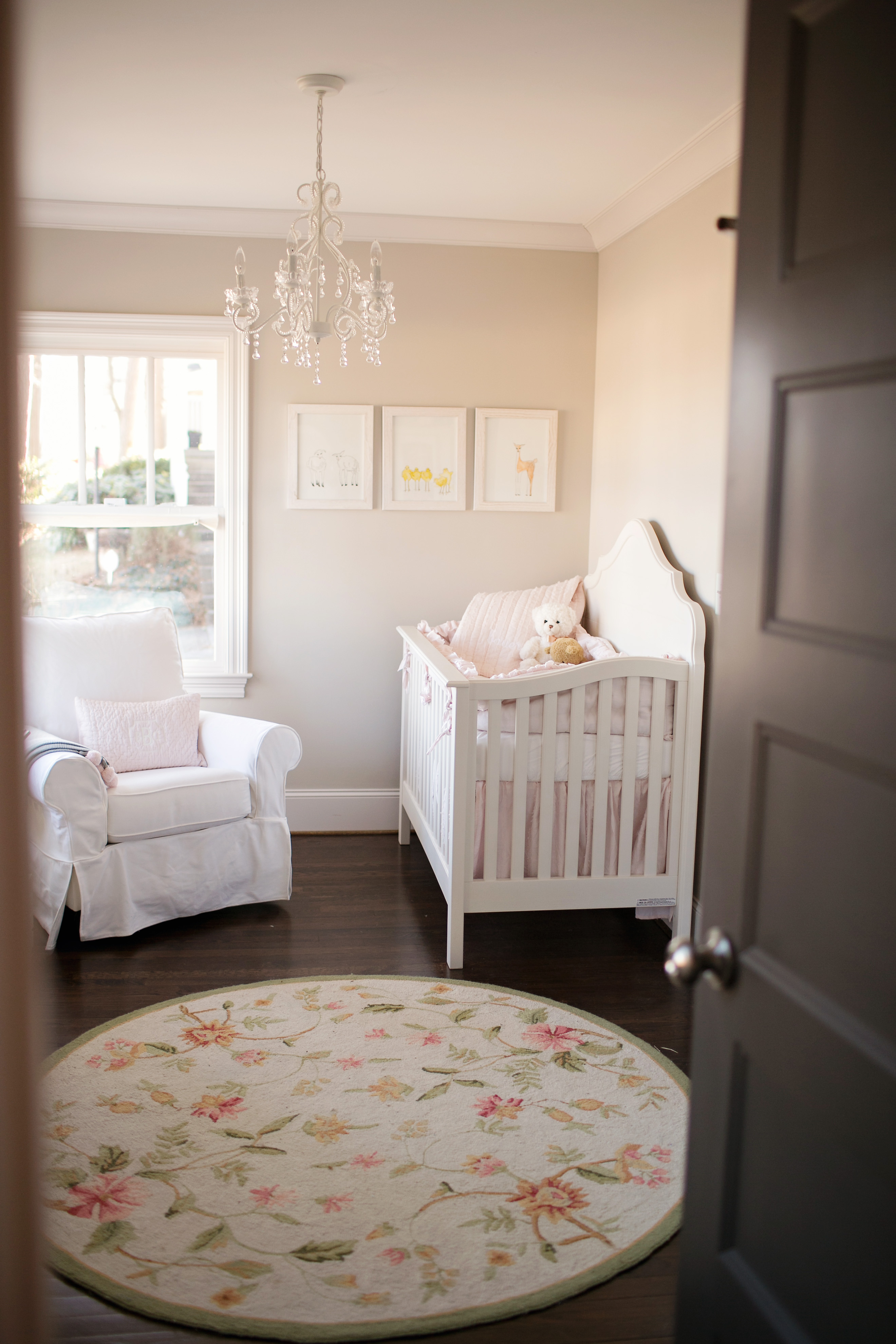 Pale Pink Wallpaper For Girl Nursery Designing For A Brand New Baby In A Brand New Space