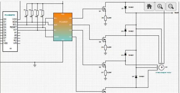 unipolar stepper motor drive circuit