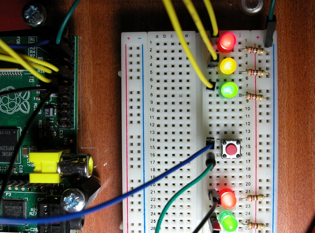 3 More LEDs and a Button Gordons Projects