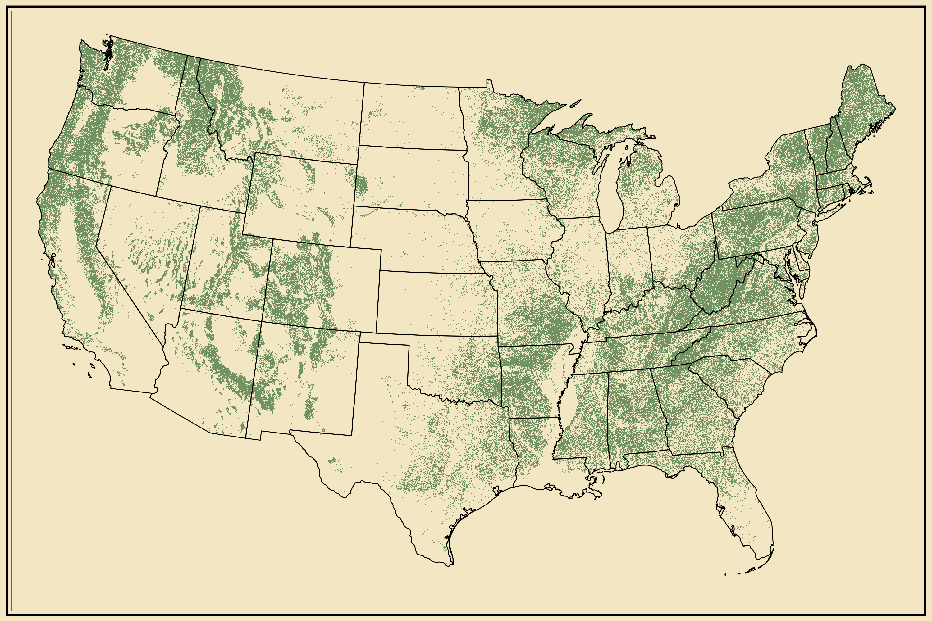 Forests | Statistical Atlas of the United States