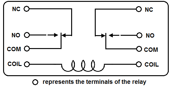 8 blade dpdt relay wiring diagram