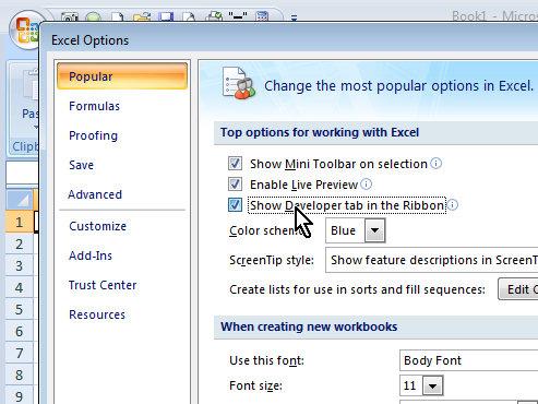 Developer Tab in Excel 2010 « projectwoman - excel developer